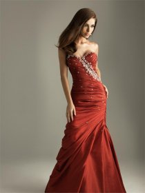 Satin Sweetheart Strapless Evening Dress