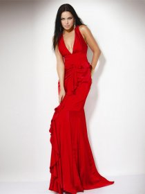 Gorgeous Sheath V-neck Chiffon Evening Dress