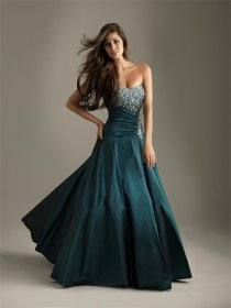 Strapless Floor-length Satin Prom Dress