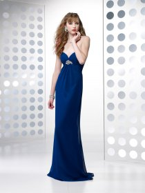 Column Sweetheart Beading Chiffon&Satin Evening Dress