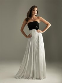Strapless Empire Floor Length Evening Dress