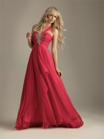 Chiffon Over Satin Sash Floor-length Prom Dress