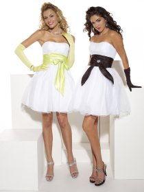 Lovely Organza&Satin Ball Gown Sweetheart Graduation Dress