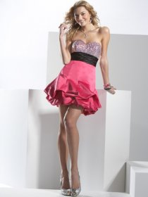 Sweetheart Beading Gorgeous Satin A-line Homecoming Dress