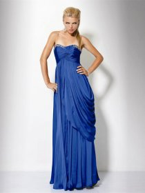 Gorgeous Sweetheart Beading Floor-length Chiffon Evening Dress