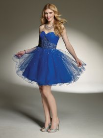 Gorgeous Organza Beading Sweetheart Graduation Dress