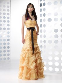 Sheath Sweetheart Ruffle Tulle Prom Dress