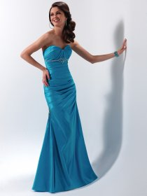 Sheath/Column Sweetheart Beading Evening Dress