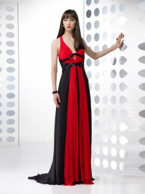 Elegant A-line V-neck Chiffon Evening Dress