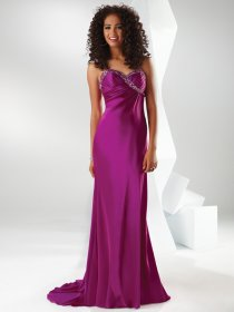Sheath Sweetheart Beaded Pleated Evening Dress