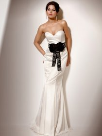 Gorgeous Sweetheart Beading Mermaid Satin Engagement Dress