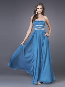 Brief Strapless Half-Backless A-line Satin Prom Dress
