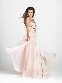 Fair A-line Spaghetti Straps Tulle Evening Dress