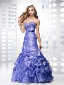 Sweetheart Beading Tulle Over Satin Trumpet Engagement Dress
