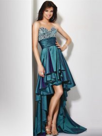 Attractive Mermaid Sweetheart Beading Satin Evening Dress