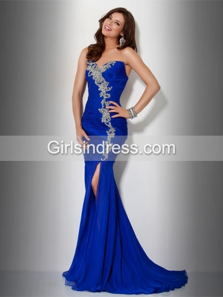Chic & Noble Mermaid Beading Chiffon Evening Dress