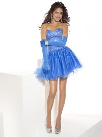 Cute Ball Gown Sweetheart Beading Organza&Satin Graduation Dress