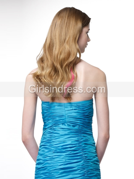 Mermaid Strapless Beading Satin Evening Dress