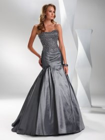 Mermaid/Trumpet Sweetheart Beading Satin Prom Dress