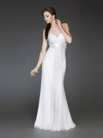 Sheath Floor-length Backless Chiffon Evening Dress