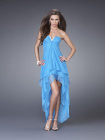 A-line Sweetheart Chiffon Asymmetrical Graduation Dress