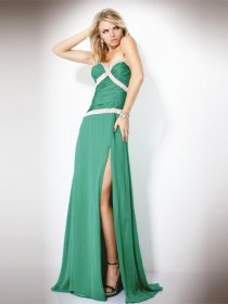 Gorgeous Sheath Sweetheart Beading Chiffon Evening Dress