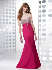 Mermaid Sweetheart Beading Satin Evening Dress