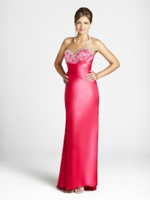 Elegant Sweetheart Sheath Floor-length Satin Evening Dress