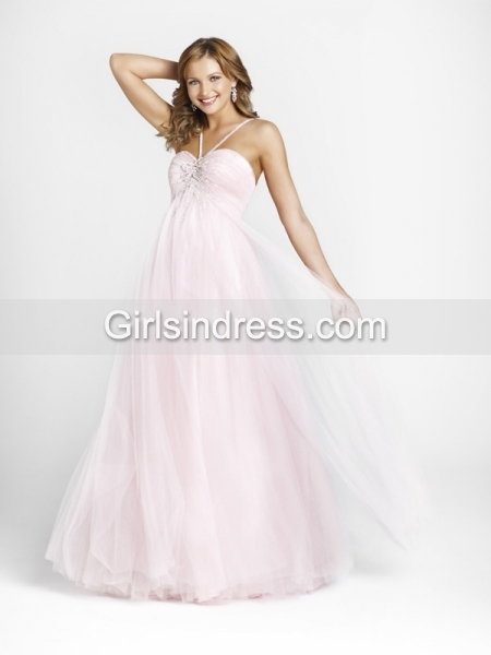Fair A-line Tulle Beaded Sweetheart Engagement Dress