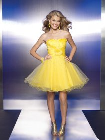 Cute Sweethart Organza&Satin Short Graduation Dress