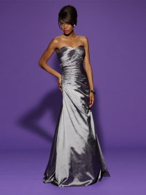 Sheath Sweetheart Beading Satin Evening Dress