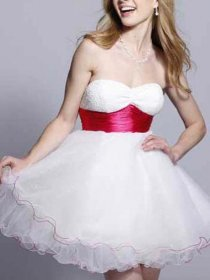 Sweet Strapless Sweetheart A-line Graduation Dress